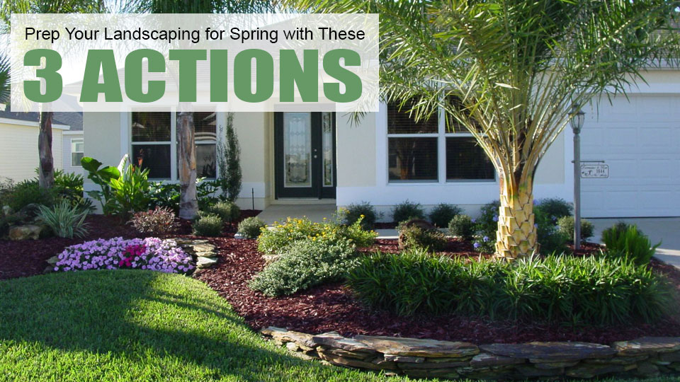 Lakeland, Florida homeowner who follows our advice on how to get your lawn ready for spring.