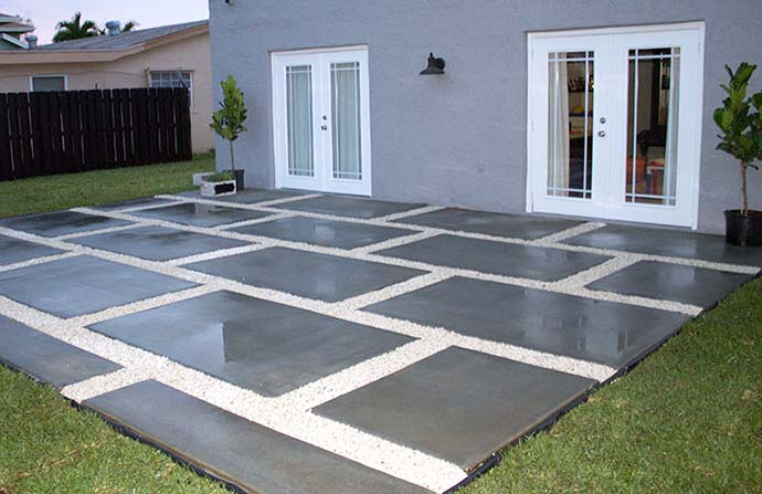 This Plant City customer hired us to install a concrete patio for their backyard.
