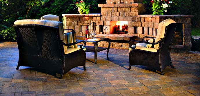 Our most recent Plant City client hired us to build this outdoor fireplace.